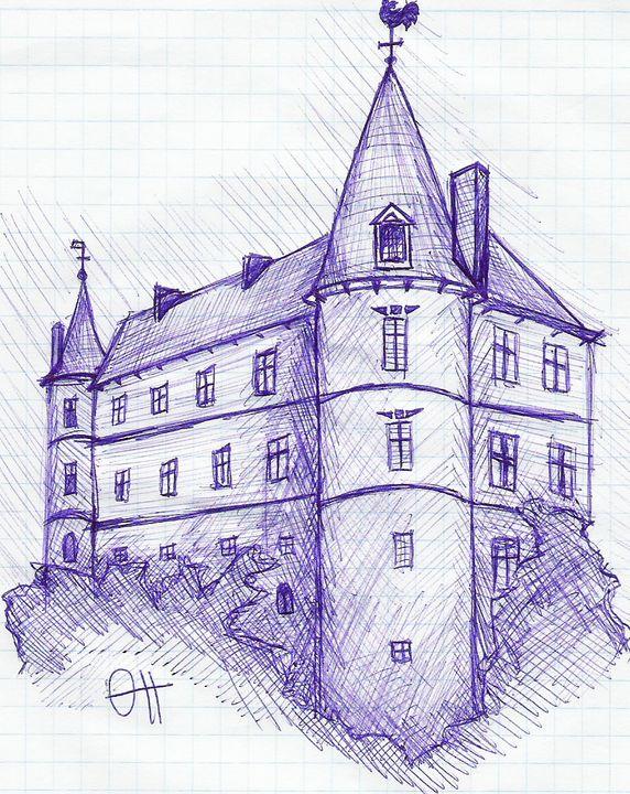 Рисунок замок с ручкой